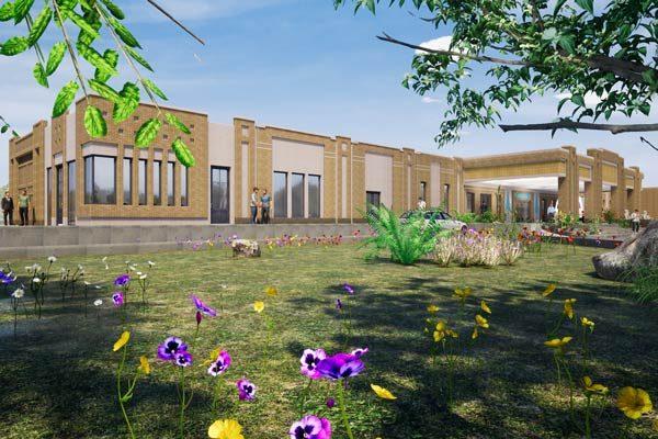 طراحی نمای اورژانس بیمارستان امام صادق میبد