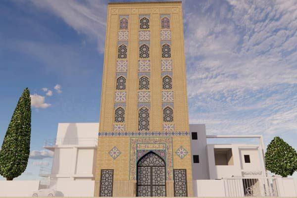 طراحی نمای حسینیه امام حسن قیطریه