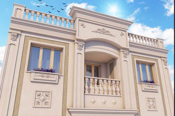 طراحی نمای مسکونی آفای فتحی