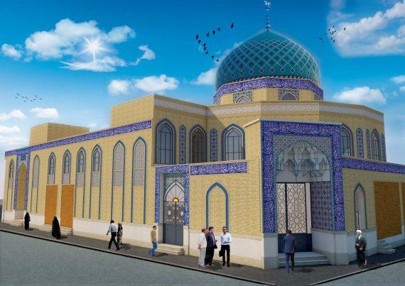 طراحی نمای مسجد سیدالشهدا
