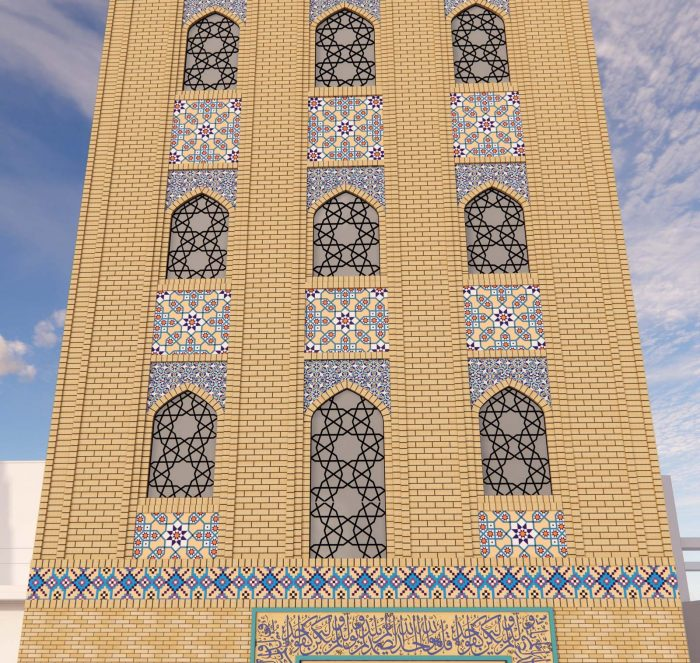 طراحی نمای حسینیه امام حسن مجتبی (ع)