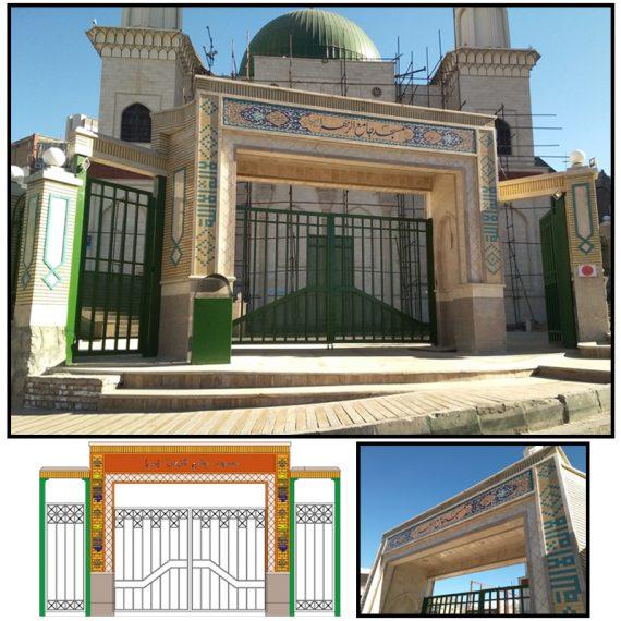 طراحی و اجرای نمای مسجد الزهرا (س) شهرک آتی ساز