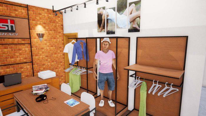 طراحی داخلی دفتر کار برند ورزشی شادی اسپورت
